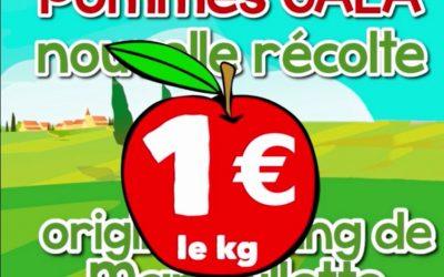 🍎 Des pommes à 1€ le kg!